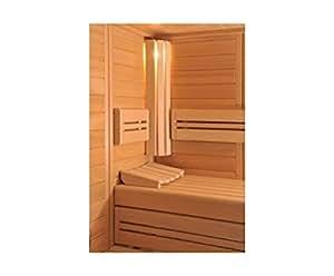 Wille Merano Visione Sauna komplett Massivholz 45 mm mit Montage 194 - 270 cm links 236 x 236 cm ohne Montage
