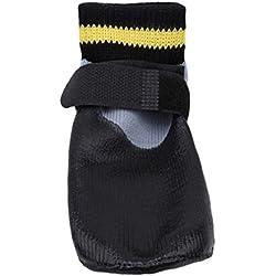 L_shop Wasserdichte Hundesocken Anti Slip Paw Protector Atmungsaktive Schutz Dog Boots Hund Sport Socken Non Slip Schuhe für Indoor Outdoor Wear, wie es Beschreibung (No.6), 6# schwarz ist