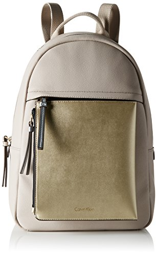 Calvin Klein CH4RLY Backpack, Sacchetto Donna, Beige (Mushroom), 14 x 36 x 25 cm (b x h x t)