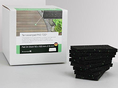 Terrassenpad PKD 720 24 Stück 50 X 100 mm, 8 mm stark