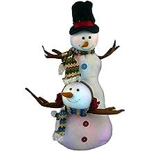 Figura de muñeco de nieve 28 pulgadas con luz LED DS10 cambiando de color