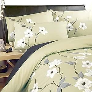 105899548 peluche chichi vert olive housse de couette king size cuisine maison. Black Bedroom Furniture Sets. Home Design Ideas