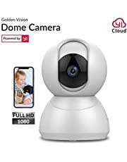 Golden Vision Dome 1080p Camera Powered by YI (White)