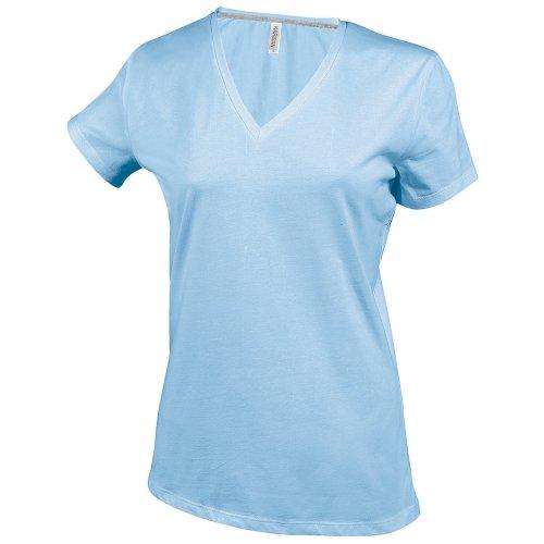 Kariban - T-shirt à manches courtes et col en V - Femme Bleu roi