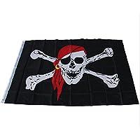 Fengh gran Cool Cruz Huesos bandera pirata Calavera bandera negro