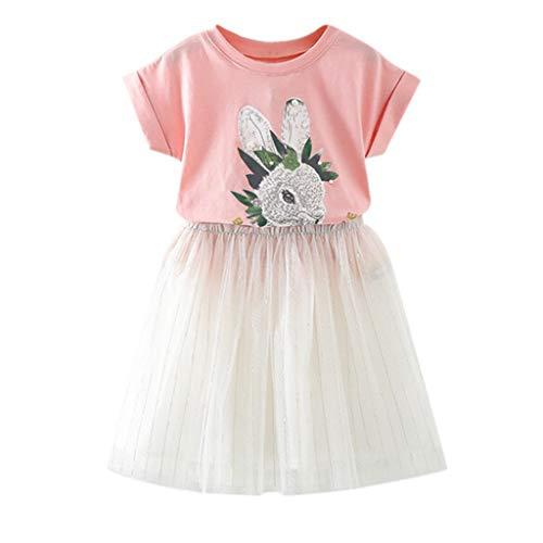 Kinderkleidung Mädchenkleider Kleinkind Baby Lange Ärmel Prinzessin Tutu Kleid Cowboy Kleider Sommerkleid Spitze Babykleidung Schöne Abendkleider ()