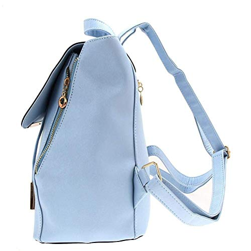 Bizanne Fashion Girl's Canvas Attractive College Bag (Blue) Image 6