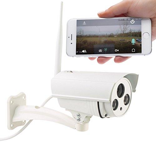 7links Kamera für Haustür: WLAN-IP-Überwachungskamera mit 720p HD, IR-Nachtsicht, SD-Recording (Kamera außen) (Outdoor Hd-webcam)