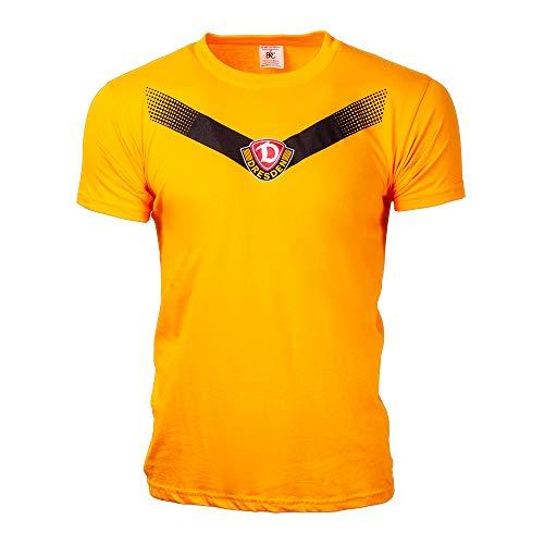 SG Dynamo Dresden Kinder-Shirt Streifen gelb, Größe:152-164/12-14