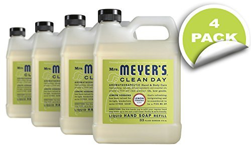 Lemon Hand Soap Refill (Mrs. Meyer's Clean Day Liquid Hand Soap Refills, Lemon Verbena, 34-Ounce by Mrs. Meyer's Clean Day)