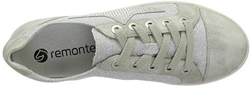 Remonte - D9105, Scarpe da Ginnastica Basse Donna Argento (Grey/silber / 40)