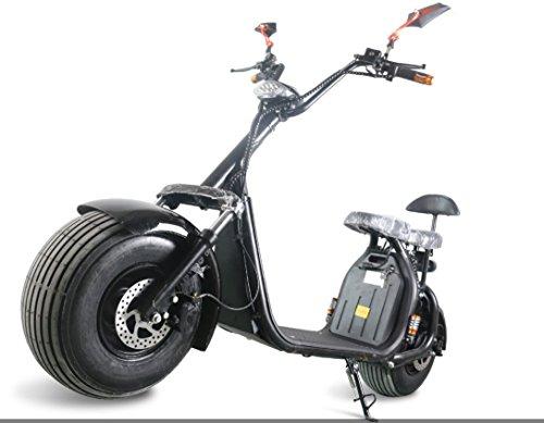 1000W-60V-12ah recargable de litio eléctrica grasa neumático scooter ciclomotor con golpes Harley...