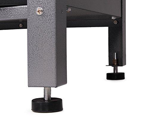 Ondis24 stabile 120 cm breite Montagewerkbank Werkstatteinrichtung Werkstatt Werkbank Werktisch mit abschließbarer Tür, stabiles Modell mit höhenverstellbaren Füßen - 6