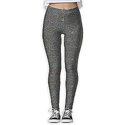 Mbefore Geek Nerd Math Mathematician PI Day Print Sports Gym Yoga Leggings Pantalones para Mujer,XL