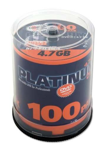 Platinum 4,7 GB DVD-R DVD-Rohlinge (16x Speed) 100er Spindel Platinum Dvd-rw