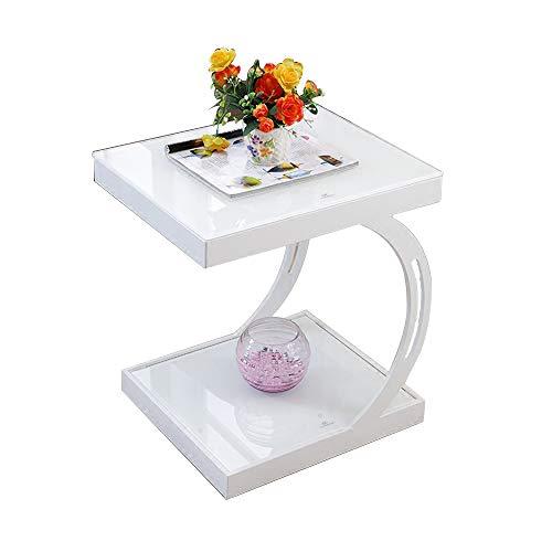 QRFDIAN Kleiner Tisch Wohnzimmer Kleiner Couchtisch Ecksofa mehrere Telefone mehrere kleine Beistelltisch (Color : White)