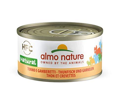 Almo Nature HFC Natural Katzenfutter - Thunfisch und Garnelen 24x70 g