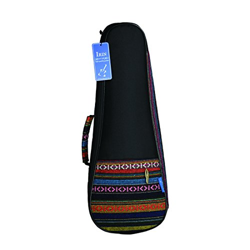 TOOGOO 21 Zoll tragbare Baumwolle Nylon gepolsterte Bass Gitarre Gig Tasche Ukulele Gehaeuse Box Gitarre Decker Rucksack mit Doppelgurt