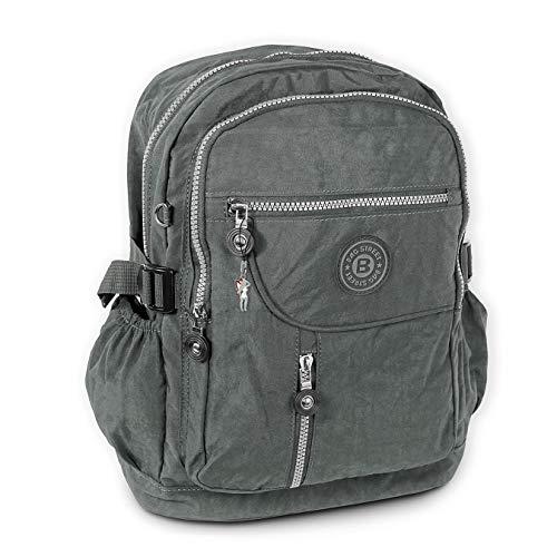 imppac DrachenLeder Damen Herren Jugend Sporttasche Rucksack grau Nylon 30x18x38 OTJ604K Nylon Sporttasche
