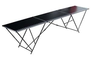 K hnel 01028 alu plus table tapisser en aluminium noir bricolage - Table a tapisser professionnel ...