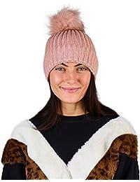 CityComfort Cappello con Pom Pom Berretto Donna Invernale con Pom Pom  Staccabile Rosa Grigio Blu Nero ebb4feaeaae9