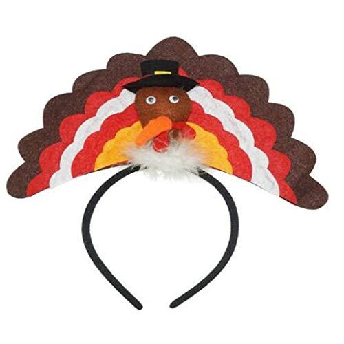 Mann Kostüm Moskito - SSUPLYMY Thanksgiving Stirnband Party Zubehör Thanksgiving Dekoration Stirnband Prop Stirnband lustiger Kopfschmuck Home Türkei Stirnband für Thanksgiving Day Party Stirnband