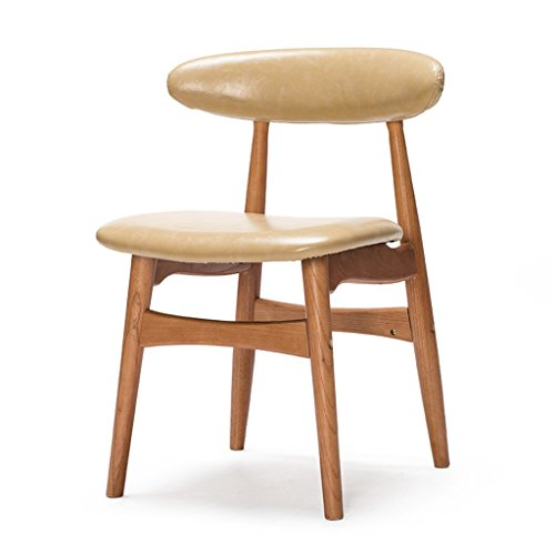 Wohnzimmer Outdoor Klappstuhl (Home bequemer Klappstuhl Hocker Holzstuhl mit Rückenlehne für Schreibtisch Esszimmer Make-up lernen Stuhl für Home Office & Commercial Modern Style Beige chair and stool)