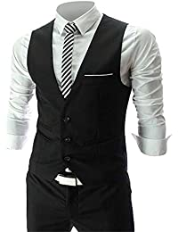Cenizas Casual Black tuxedo waistcoat blazers for men slim fit party wear