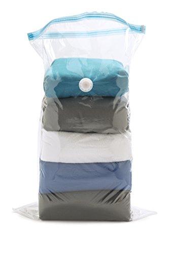 Idehome MR178640a Vakuum-Aufbewahrungsbeutel für Kleider IL, Polyethylen, Transparent, 60x 90x 0,06cm, 2Stück