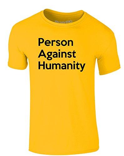 Brand88 - Person Against Humanity, Erwachsene Gedrucktes T-Shirt Gänseblümchen-Gelb/Schwarz