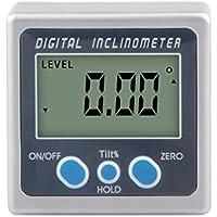 Morza Bisel Caja de Angulo Digital calibrador del Metro Digital Mini prolongador 360 Grados Imanes Base inclinómetro electrónico Transportador