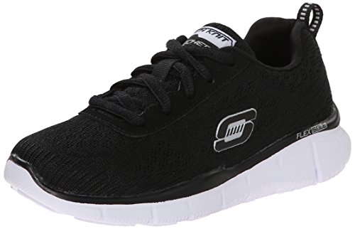 Skechers Equalizer Quick Reaction, Sneakers basses garçon Noir (Noir/Blanc)