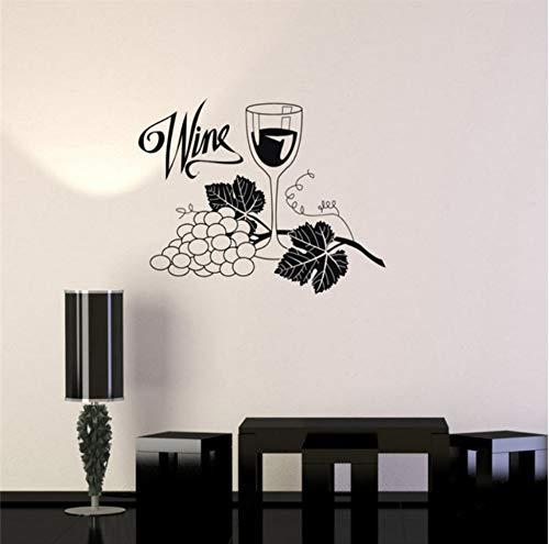 (Lsfhb 57X86 Cm Weintrauben Glas Alkohol Wandaufkleber Wasserdichte Vinyl Wandtattoo Drink Bar Küche Wandaufkleber Home Design Tapete)