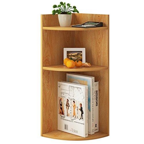 XXGI Sleek Minimalistischen Schreibtisch Bücherregal Kleine Hause Multi-Layer-Ecke Regal 45 Grad Dreieckigen Regal Schlafzimmer Ablage Regal Bücherregal (24 * 24 * 60) (Bücherregal Tier-ecke)