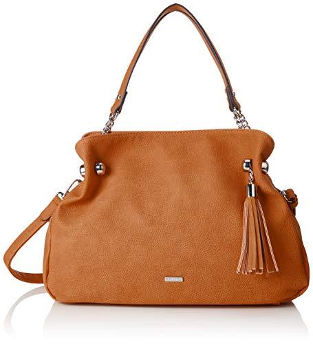 Tamaris Damen Gweny Shoulder Bag Schultertasche, Braun (Cognac), 13x26x30.5 cm