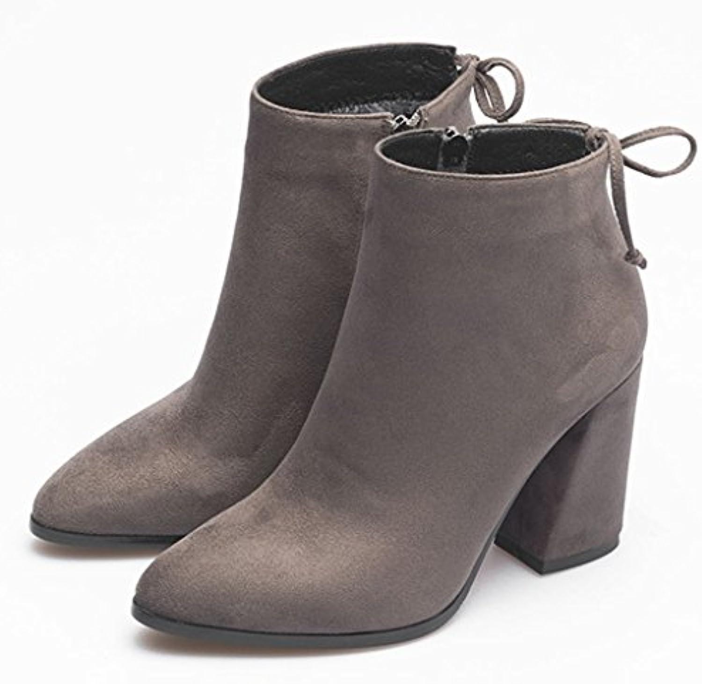 Schneestiefel Martin Stiefel Weiblich Britischen Stil Kurze Stiefel Student Dicke Heels Schuhe mit hohen absätzenSchneestiefel Stiefel Weiblich Britischen absätzen