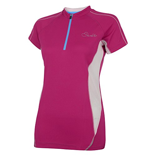 Dare2B Womens/Ladies Revel Wicking Lightweight Cycling Jersey Shirt Performance Purple