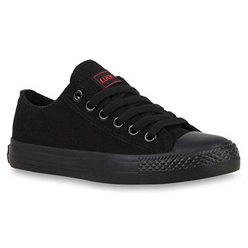 Damen Schuhe Sneakers Sportschuhe Schnürer Schuhe 25998 Schwarz Schwarz Ambler 36 Flandell
