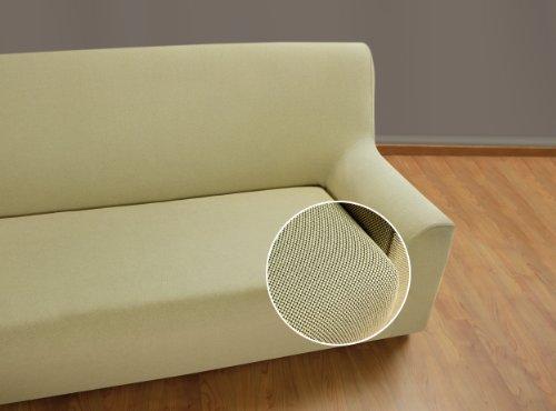 VELFONT – Bielastischer Sofabezug Universal - 3-Sitzer - Beige - verfügbar in verschiedenen Größen und Farben