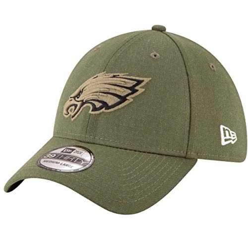 New Era Philadelphia Eagles 39thirty Stretch cap On Field 2018 Salute To  Service Green - M 672787483ba3