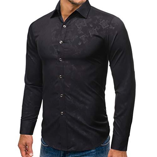 Dwevkeful Herren Freizeit Blusen Sweatshirt Revers Schmetterling Drucken Shirt Tops Style Langarmshirts Hemden Herbst Winter Pullover Button Down Hemd -
