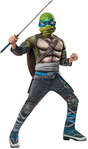 Turtle 2 Deluxe Leonardo Costume Child Medium (Halloween-kostüm Teenage Mutant Ninja Turtle)