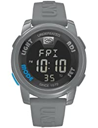 Marc Ecko Unisex Digital Watch with Black Dial Digital Display and Grey Silicone Strap E07503G6