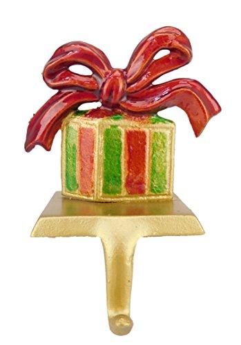 Weihnachtsgeschenk Shaped Christmas Stocking Hanger In Rot/Grün/Gold [Spielzeug] (Strümpfe Und Weihnachten Gold Rot)