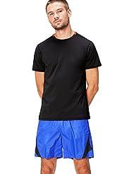 FIND T-shirt de Sport avec Col Contrastant
