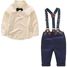 Yilaku Bebés Juego de Ropa Camisas y Pantalones Conjunto para Bebé Niño 52122ad7119
