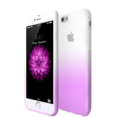 COOLKE Un changement graduel TPU Silicone Housse Coque Etui Gel Case Cover Pour Apple iPhone 6 Plus (5.5 inch) - pourpre pourpre