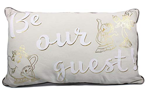 (Beauty and The Beast Pillow Be Our Guest 50 cm Half Moon Cuscini)