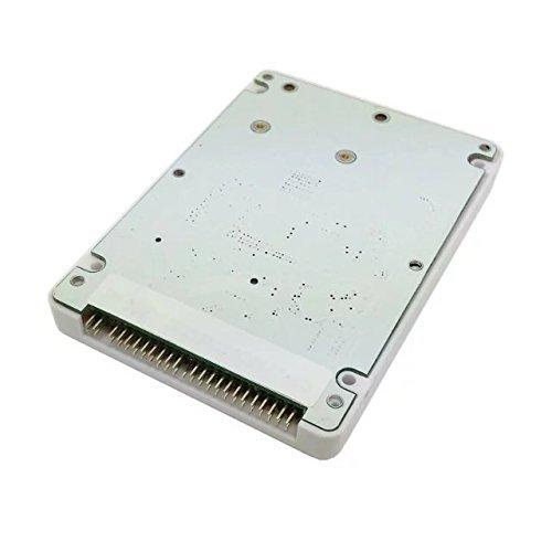 Goliton mSATA Mini PCI-E SATA SSD auf 2,5 Zoll IDE 44pin Festplattengehäuse Gehäuse für Notebook Laptop - Weiß - Ibm-ide-festplatte