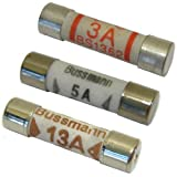 All Trade Direct 18 Mixed Amp Domestic 240V Household Mains Plug Fuse Electrical Cartridge Fuses